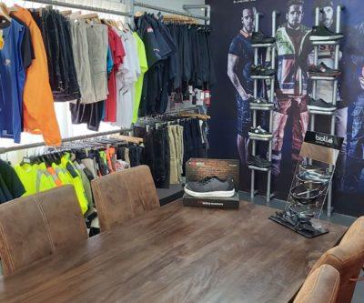 Showroom Bedrijfskleding Curacao